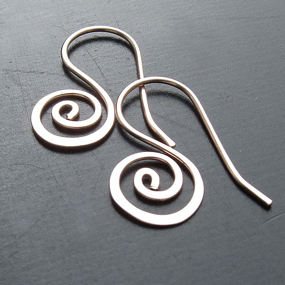 smal silver coil earrings