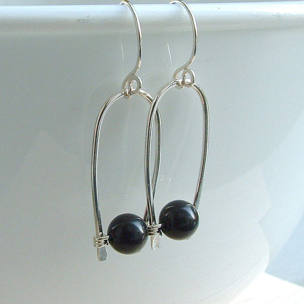 silver inverted hoops