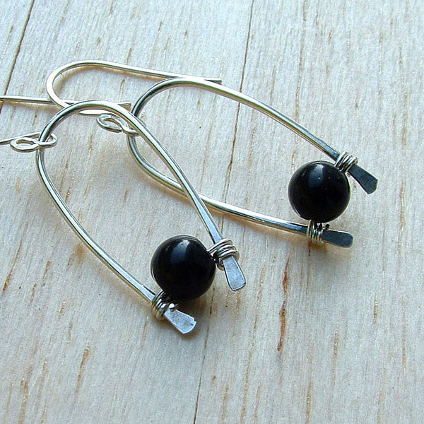 black hoop dangles