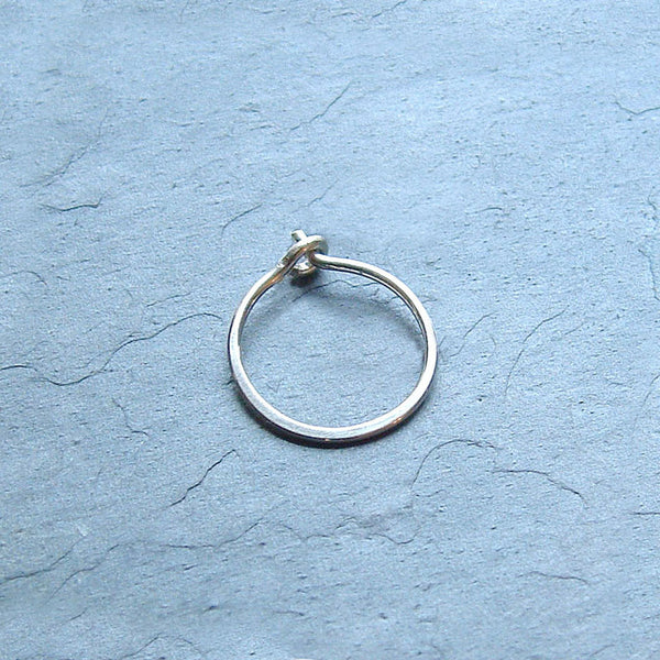 single silver hoop earring