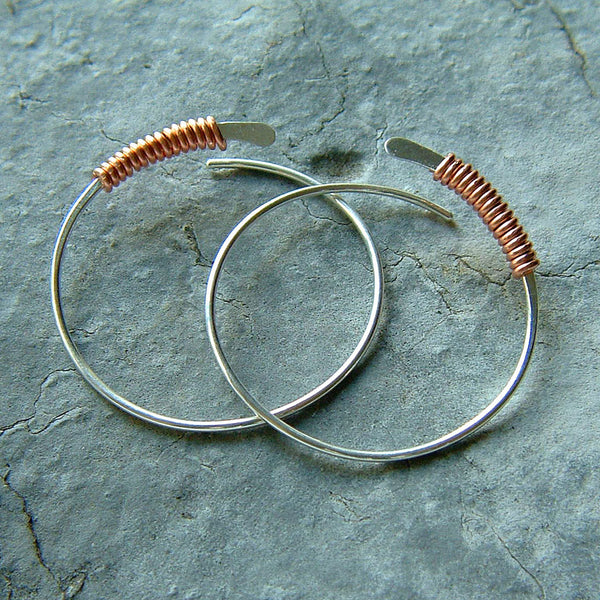 mixed metal hoops