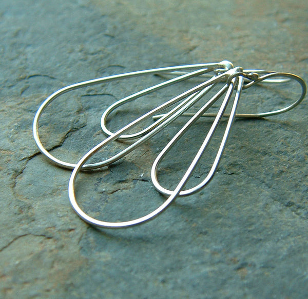 Long Loop Dangle Earrings