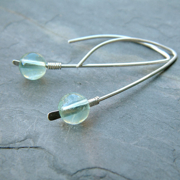 open hoops with fluorite
