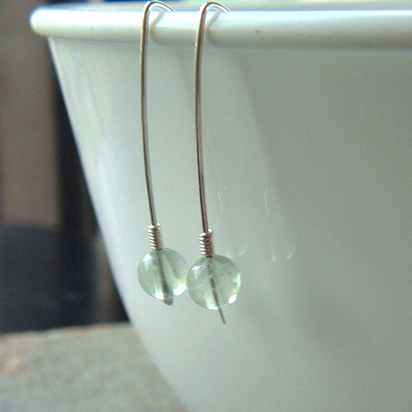 threader earrings fluorite