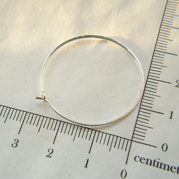 silver hoop measurement