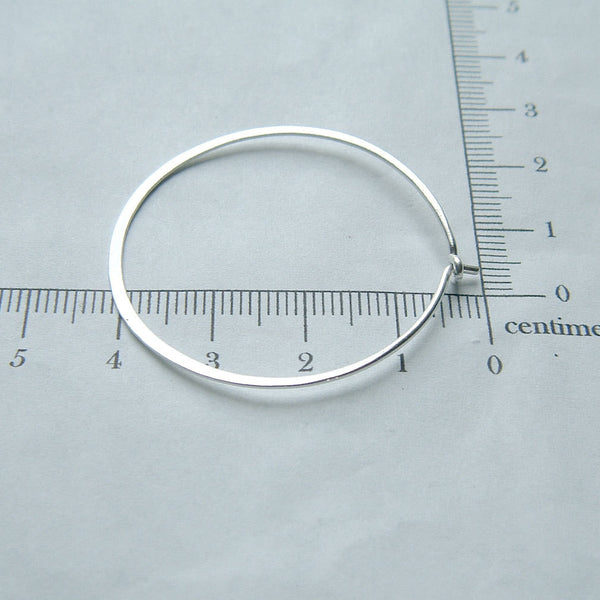 large hoop in silver