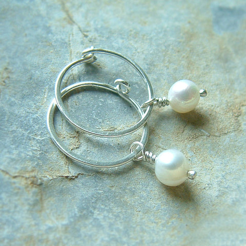 hoop with pearl