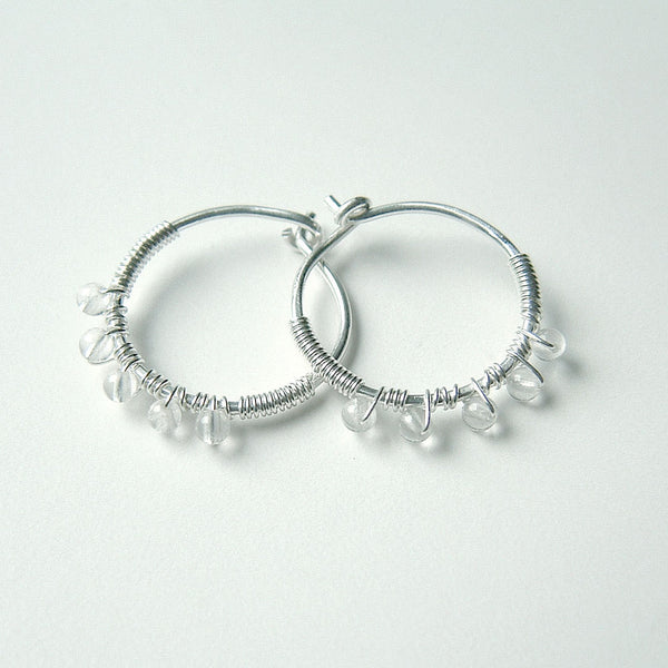 small quartz hoops