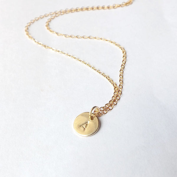 Gold Initial Necklace Personalized Jewelry