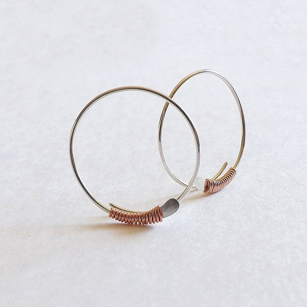 open hoop earrings small