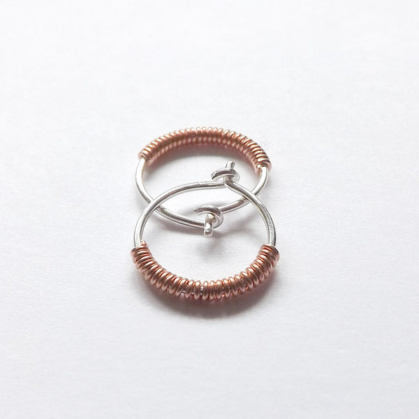 small silver hoops