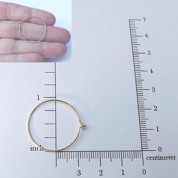 14k solid gold hoop measurement