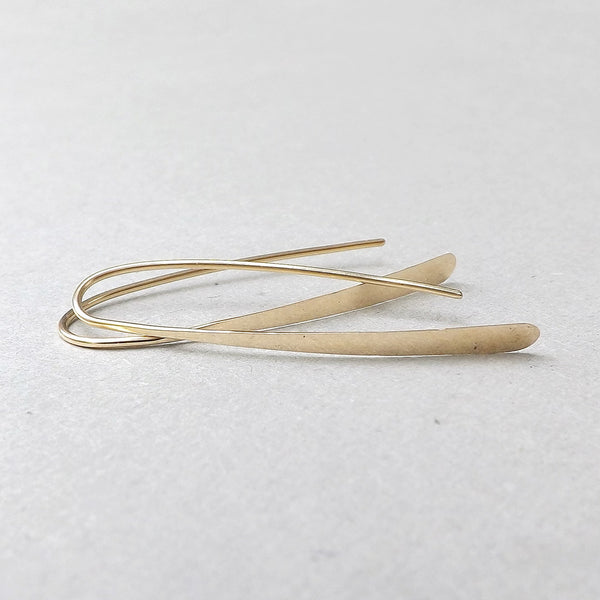 gold filled wishbone earrings