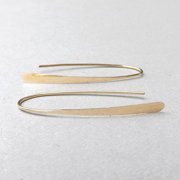 gold wishbone hoops
