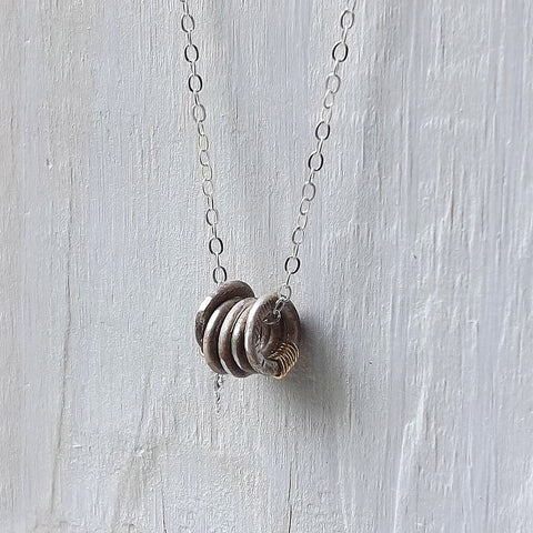 tiny rings necklace
