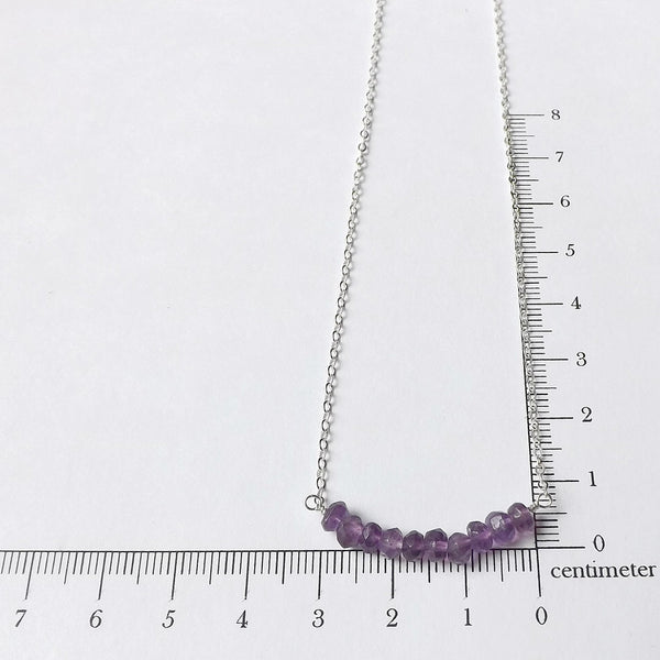 amethyst necklace measurement