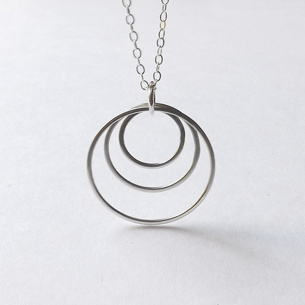 Sterling Silver Circles Necklace