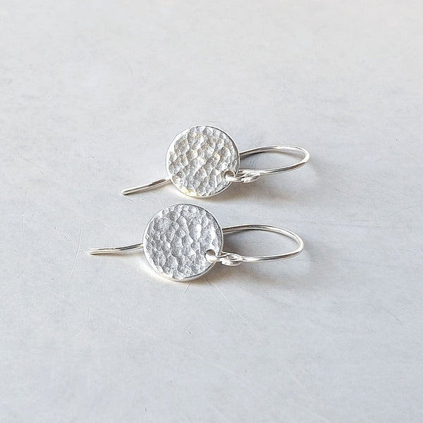 small round disc earring
