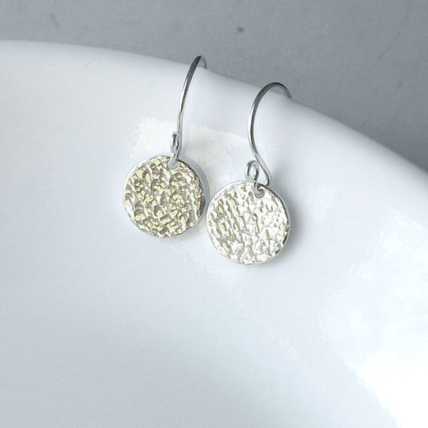 small silver dangle earring