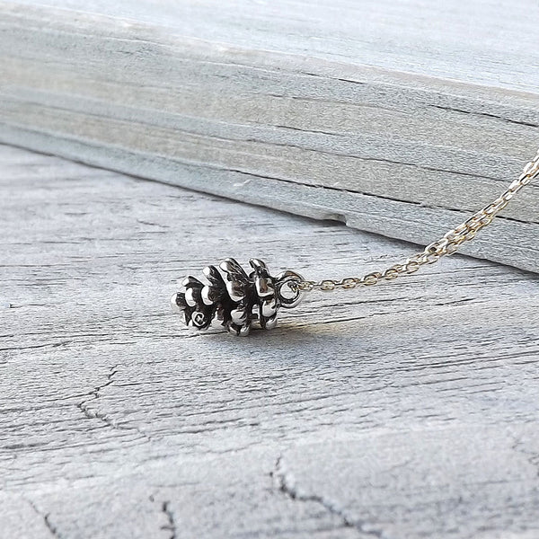 tiny pinecone necklace