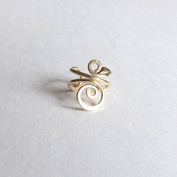gold swirl ear cuff