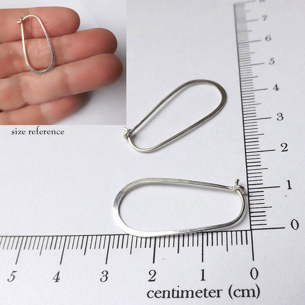Silver Loop Hoop Earrings