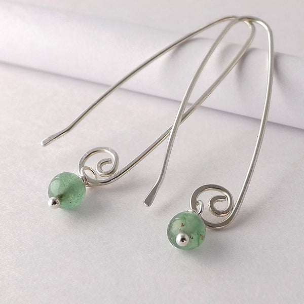 long green earring