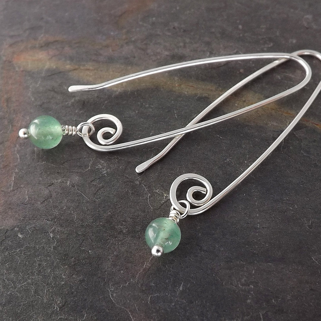 green aventurine earring