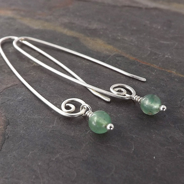 aventurine dangle earrings