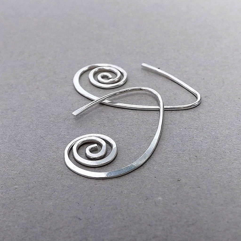 silver unfurled earring small