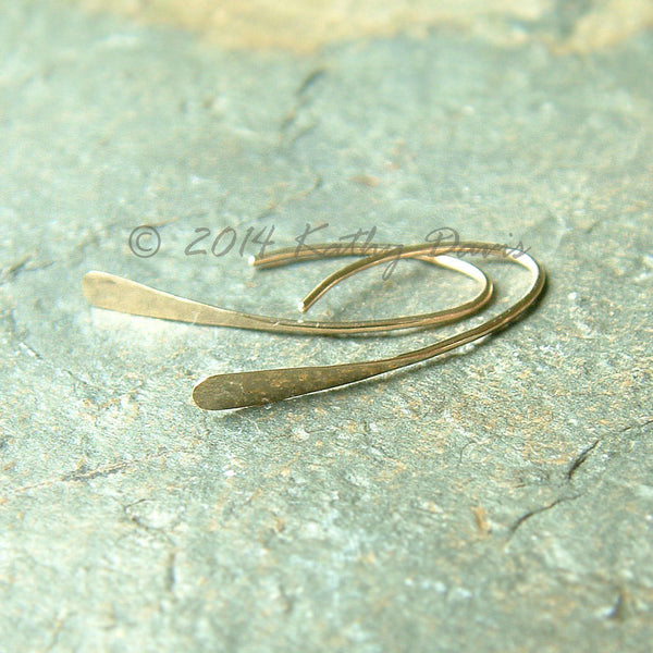14k gold modern wishbone