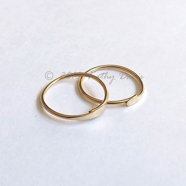 gold sleeper hoops