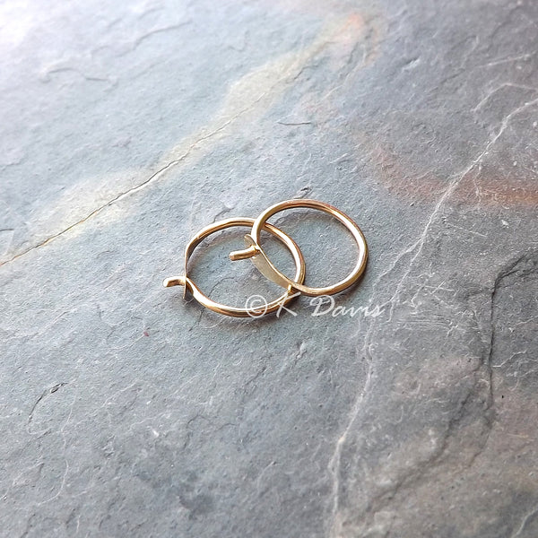 Custom 14k Solid Gold Small Hoops Reserved