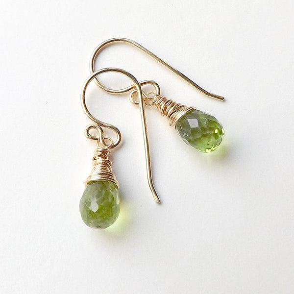 small peridot earring