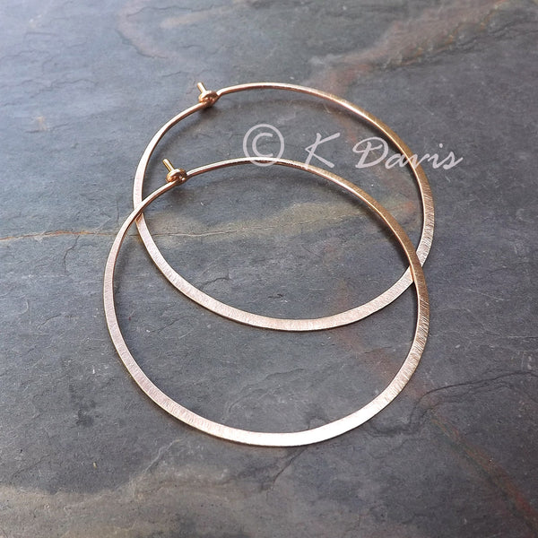 rose gold hoops
