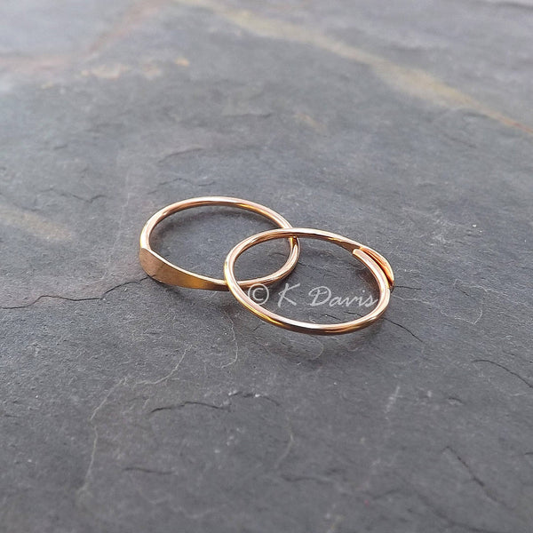 gold sleeper hoop earrings