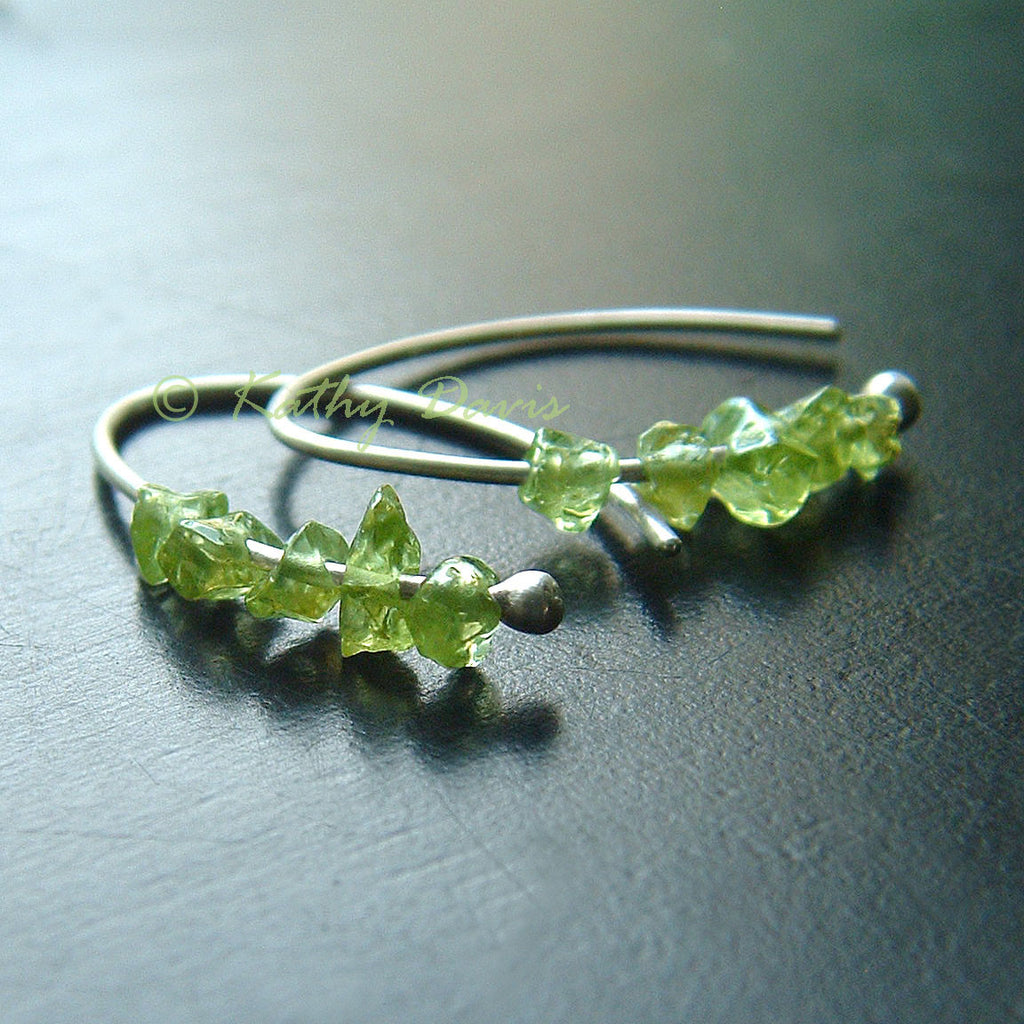 Peridot Earrings Sterling Silver