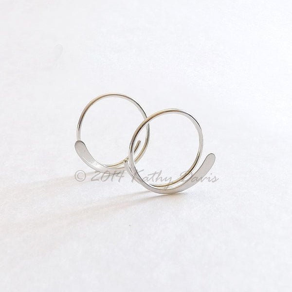 Open Hoop Earring Sterling Silver