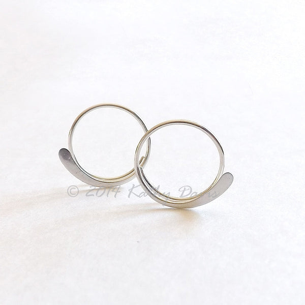 open hoop earrings by K Davis Studios