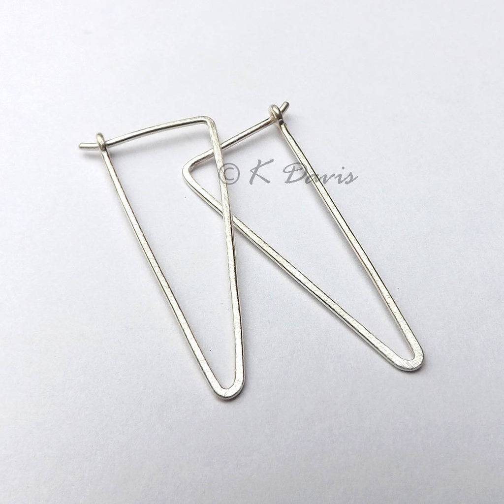 8f2b3c35a79d2 Silver Triangle Hoop Earrings Large