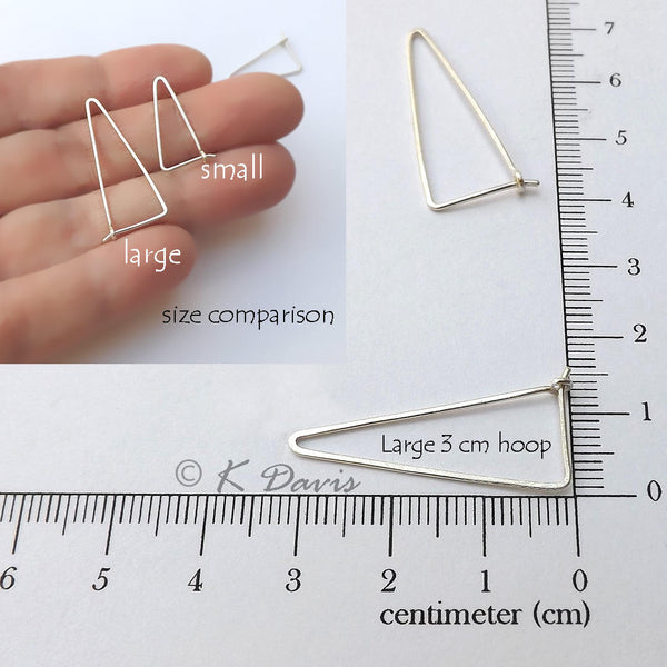 large triangle hoops measurement