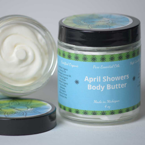 April Showers Essential Oil Blend Infused Body Butter