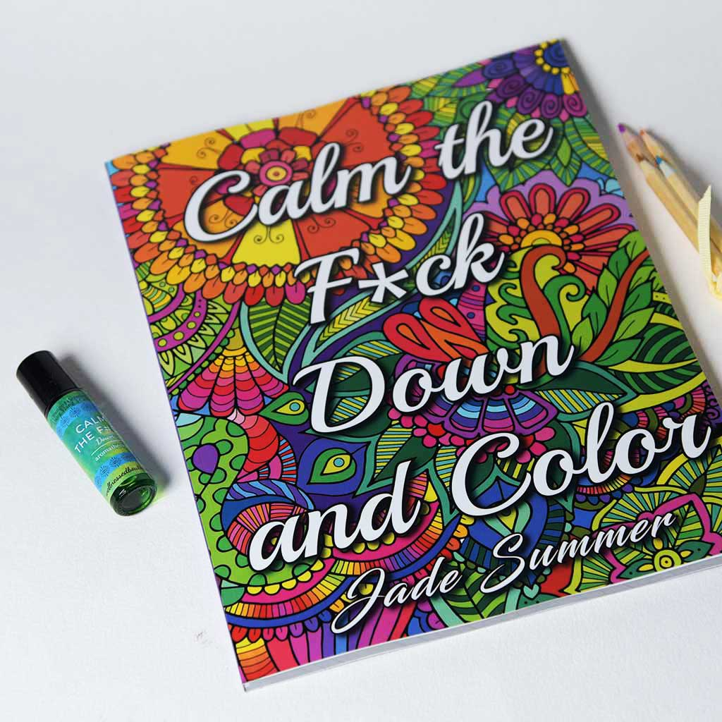 Calm the F#ck Down Aromatherapy Putty with Coloring Book