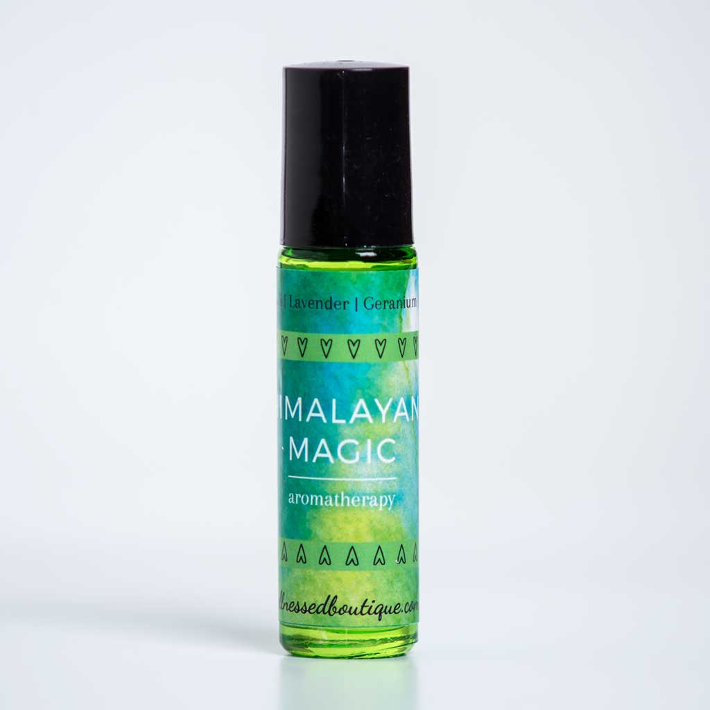 Patchouli + Lavender Essential Oil HIMALAYAN MAGIC Rollerball Blend