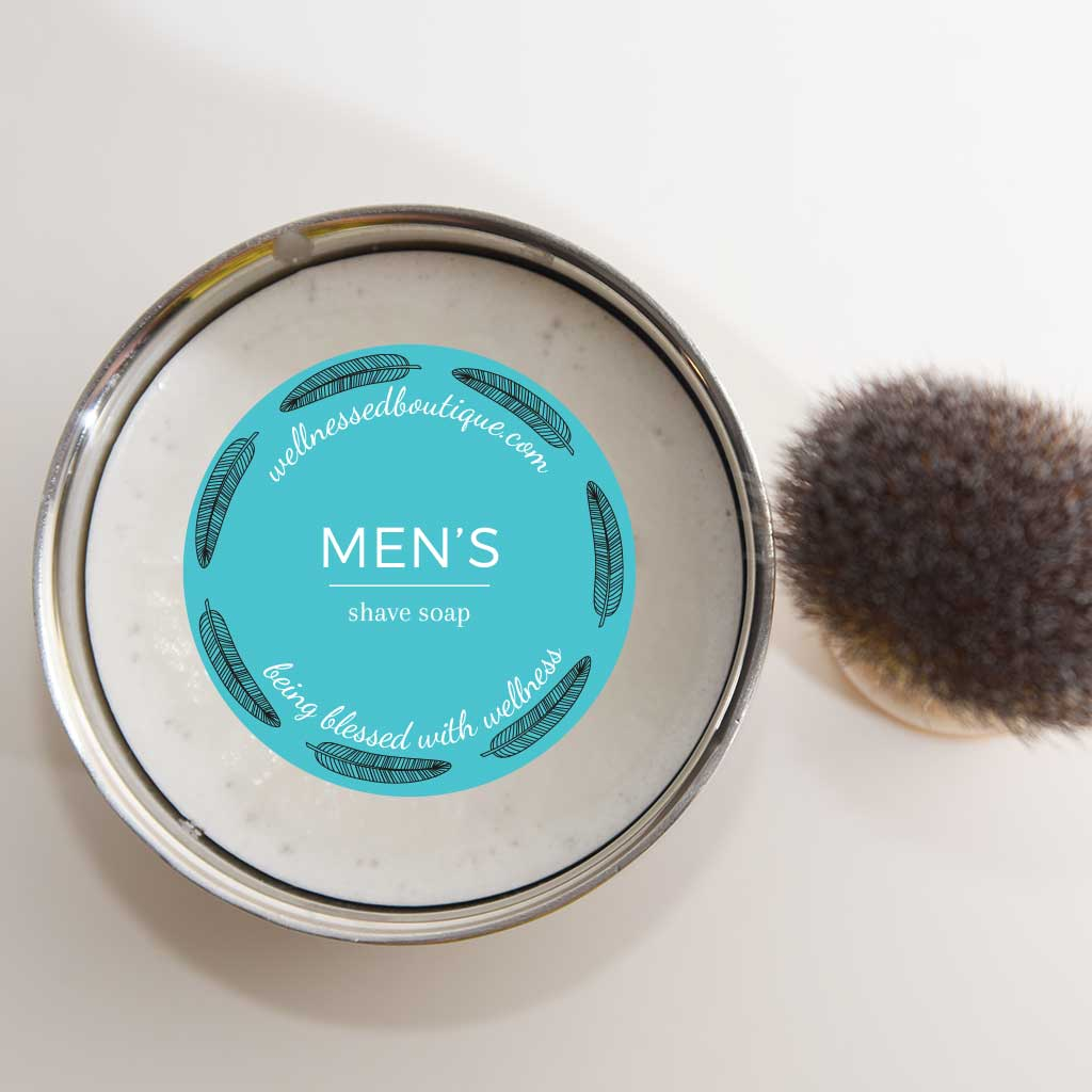 Shea Butter + Bentonite Clay Men's Shave Soap