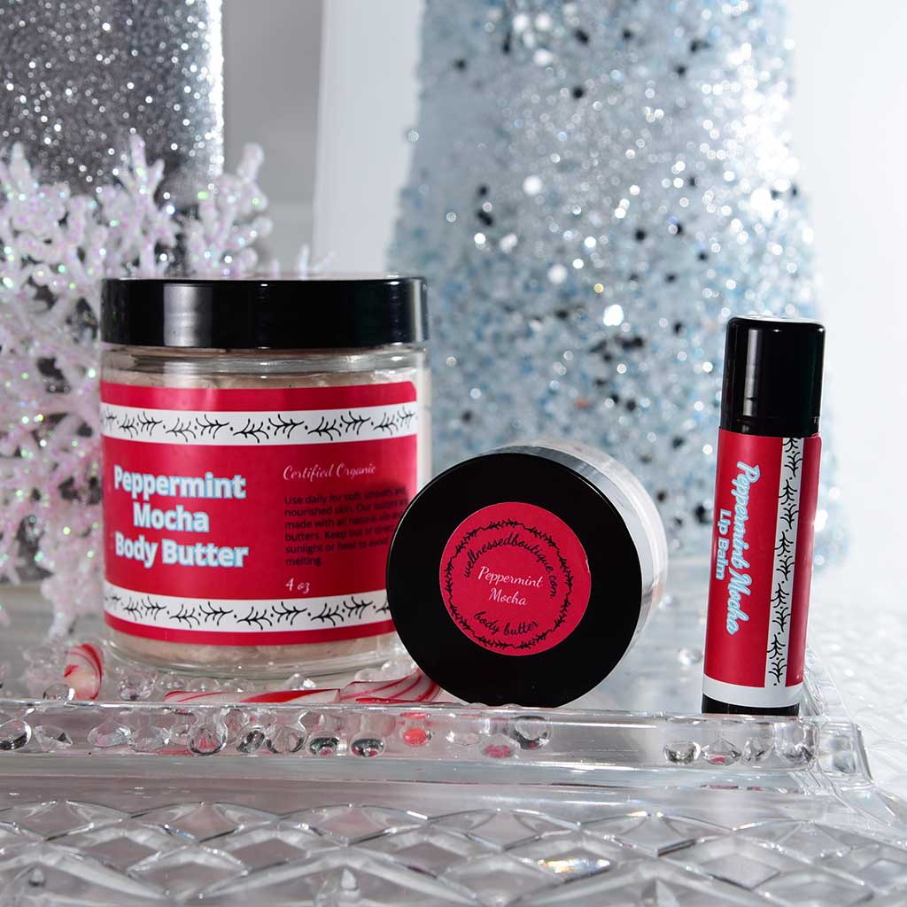 Peppermint Mocha Skin and Lip Care Gift Set