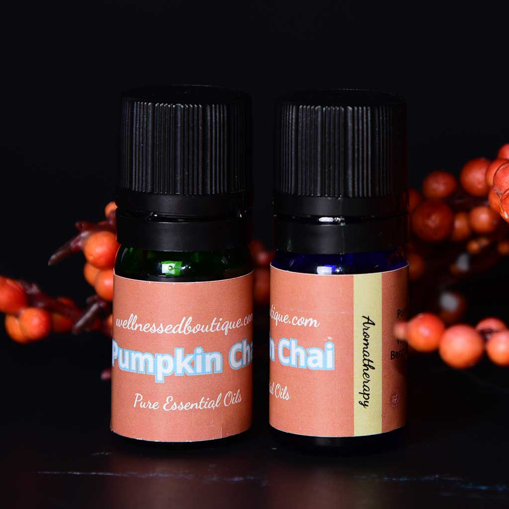 Cinnamon + Ginger Essential Oil Pumpkin Chai Diffuser Blend
