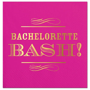 Bachelorette Bash Napkins - Hot Pink