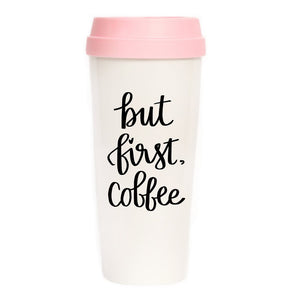But First Coffe Travel Mug