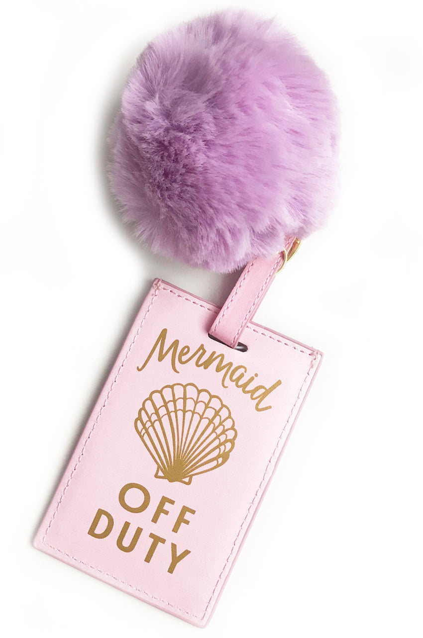 Luggage Tag Pom Pom-Mermaid Off Duty